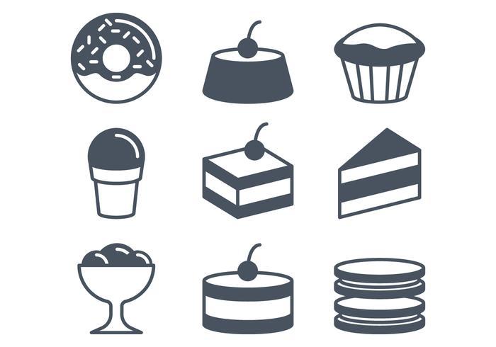 Cafe und Süßigkeiten Icons vektor