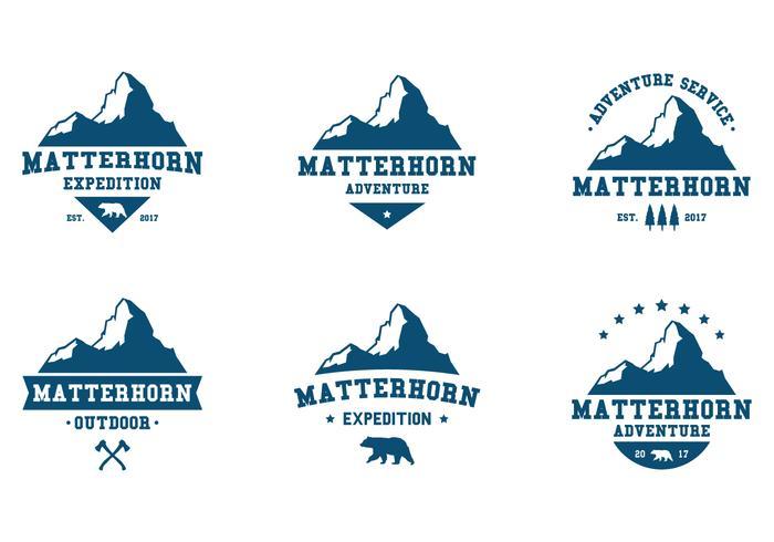 Matterhorn äventyrslabel vektor