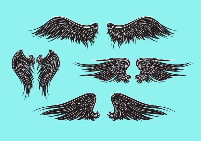 Vektor heraldische Flügel oder Engel