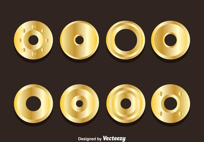 Golden Eyelet Collection Vektoren