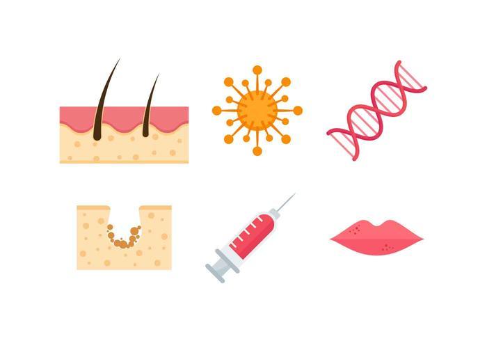 Gratis utestående dermatologiska vektorer