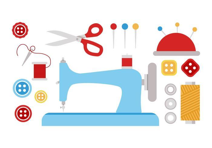 Gratis Sömnad och Needlework Vector