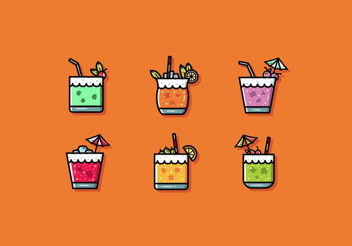 Gratis Mocktail Vector