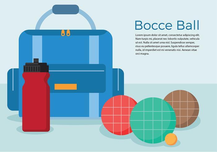 Bocce setzt freien Vektor ein