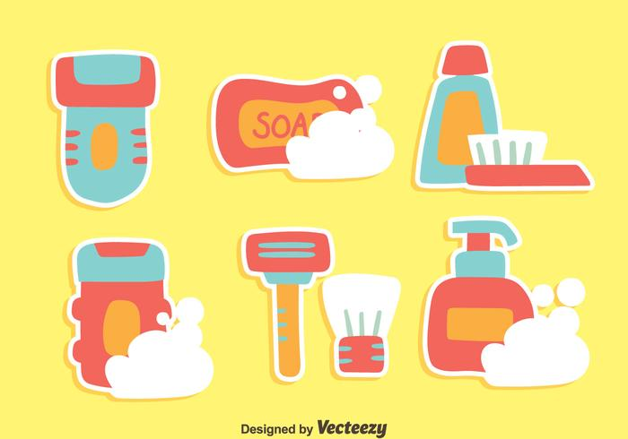Nizza Hygiene Element Vektoren
