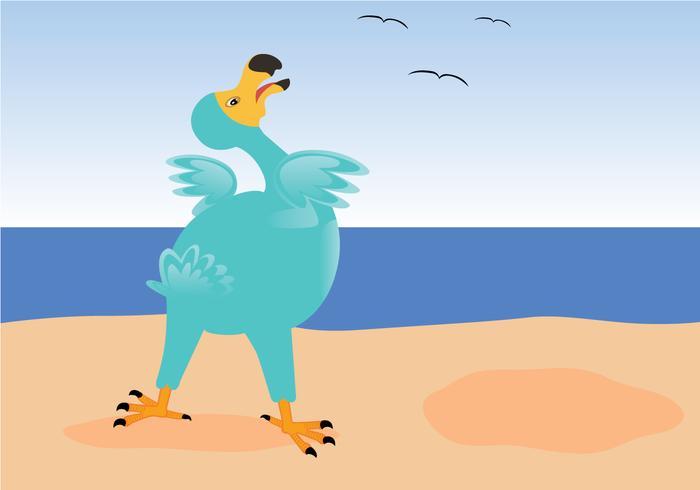 Dodo auf dem Strand Vektor