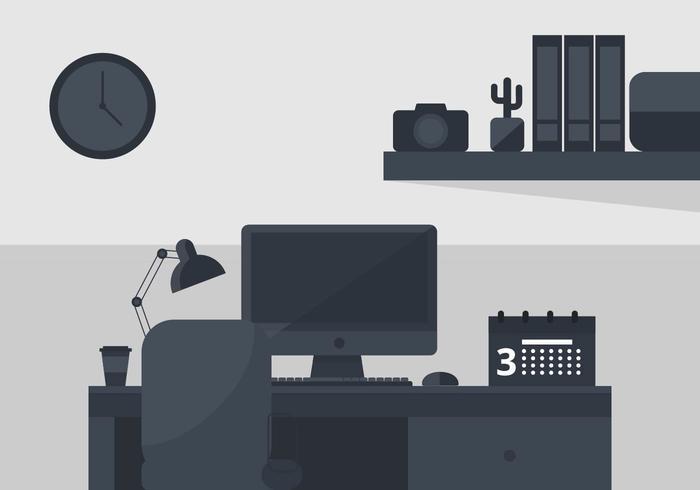 Monochrome Desktop-Illustration vektor