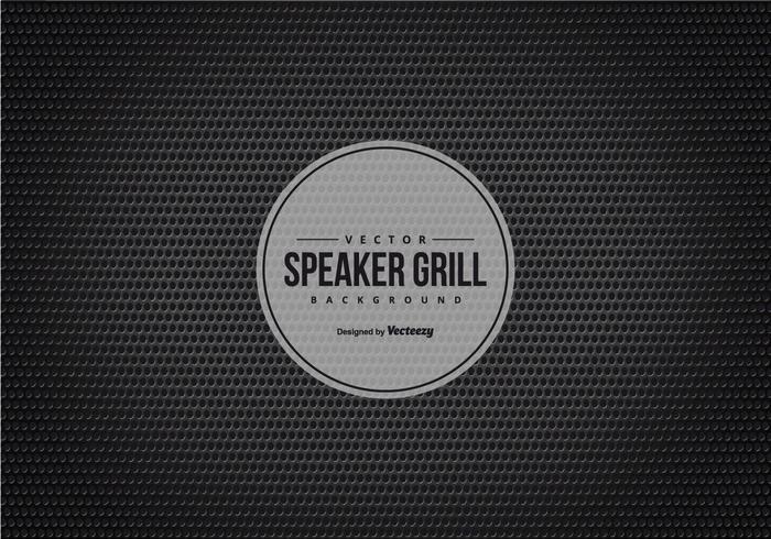 Schwarzer Lautsprecher Grill Textur Hintergrund vektor