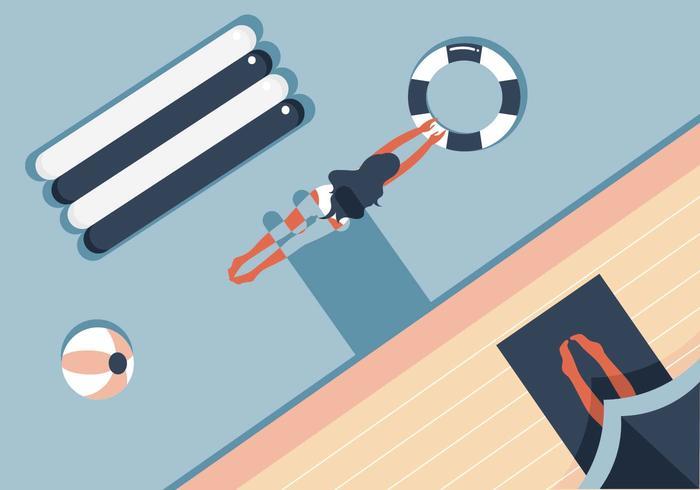 Sommer Pool Illustration Vektor