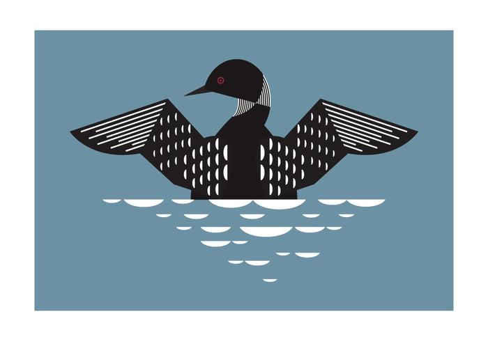 Geometrisk Loon Bird Bakgrund Vector Illustration