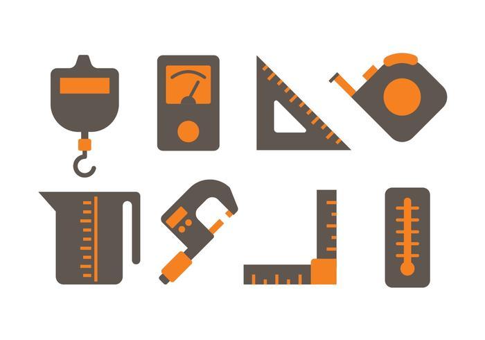 Meßwerkzeug-Ikonen vektor