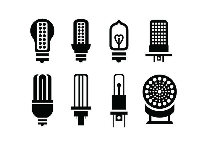 Birne Vektor-Icons vektor