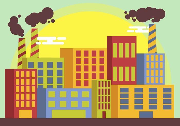 Rökstack Factory Illustration Vektor