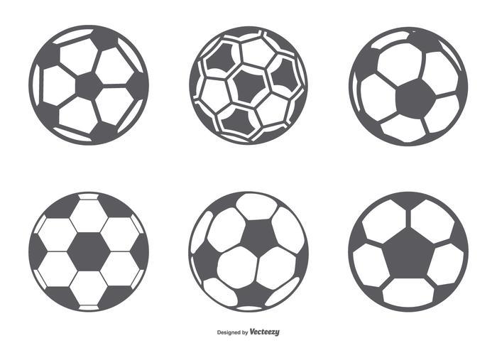 Fotboll ikon samling vektor