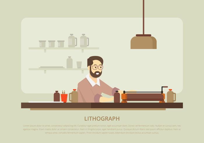 Lithograph und Lithographie Werkzeuge vektor