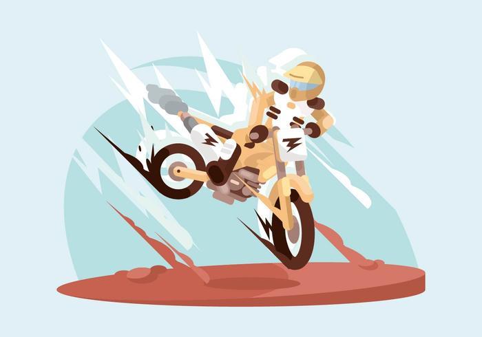 Motorcross darstellung vektor