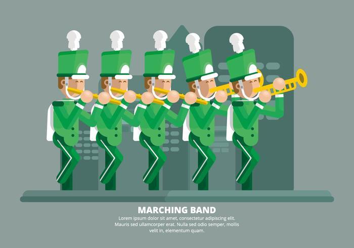 Marschierende Band Illustration vektor