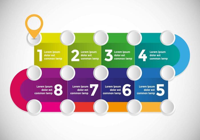 Roadmap Infografische Illustration Vektor