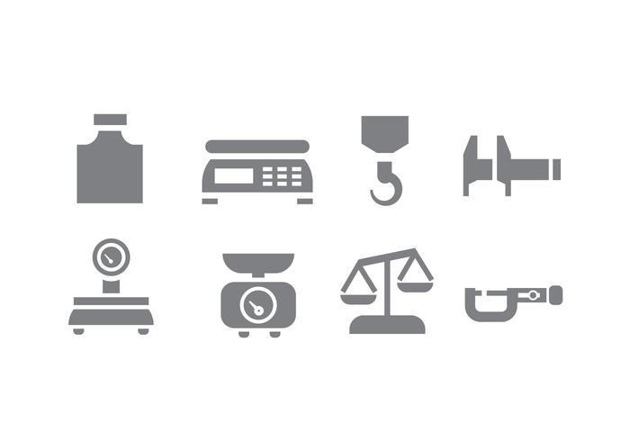 Mätverktyg ikoner vektor