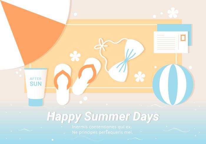 Free Summer Beach Elemente Hintergrund vektor