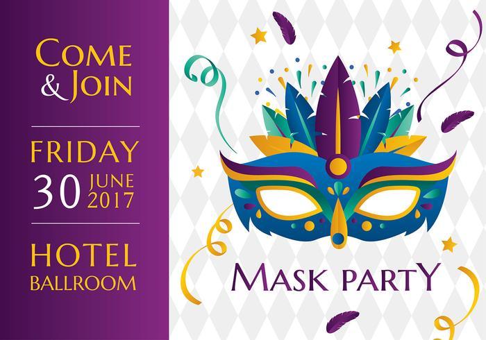 Maske Party Vorlage Freier Vektor