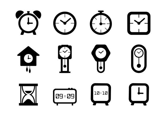 Art der Uhr vektor