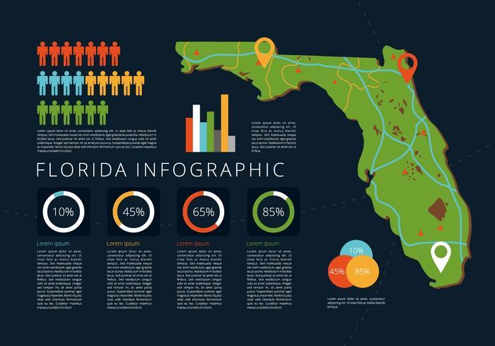 Florida karta illustration vektor