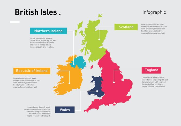 Brittiska öarna infografiska vektor