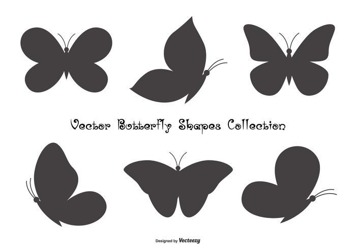 Butterfly Shapes Sammlung vektor