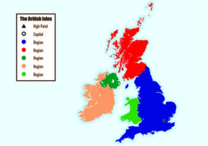 British Isles Map Infographic vektor