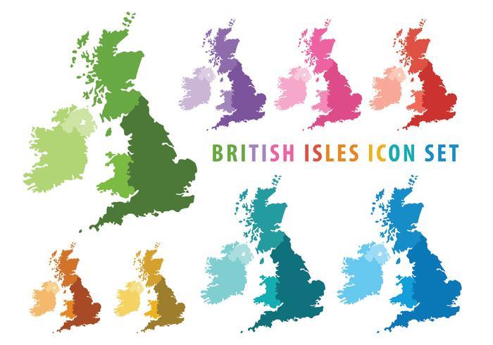 Britische Inseln Karte vektor