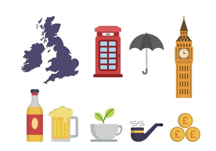 Flat United Kingdom Vektoren