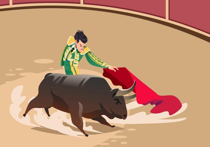 Spanischer Stierkämpfer Vektor