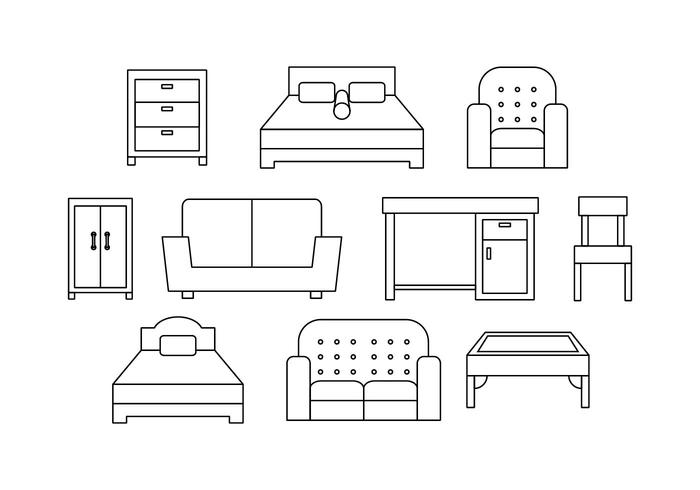 Free Furniture Line Icon Vektor