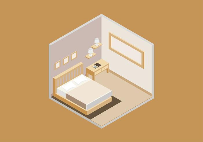 Sängkläder Isometrisk Gratis Vector