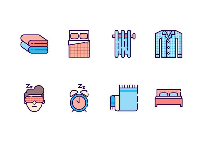 Freie Schlafzimmer Icons vektor