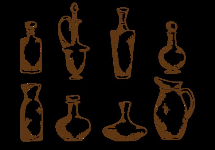 Handdragen dekantering vektor