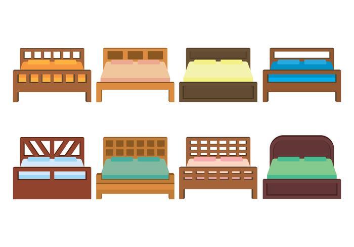 Bettwäsche Vektor Icons Set