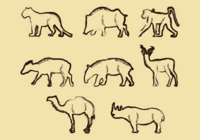 Lithographie der Tierform vektor