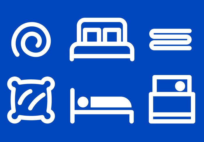 Bettwäsche Icon Vektor