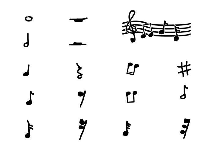 Musiknoten vektor