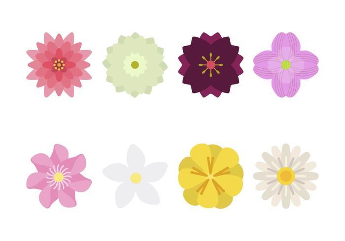 Plana blomma vektorer