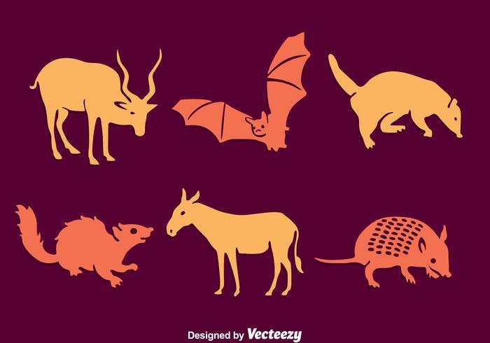 Südamerika Silhouette Tier Vektor