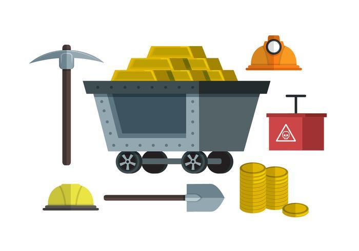 Gold Rush Element Vektor-Illustration vektor