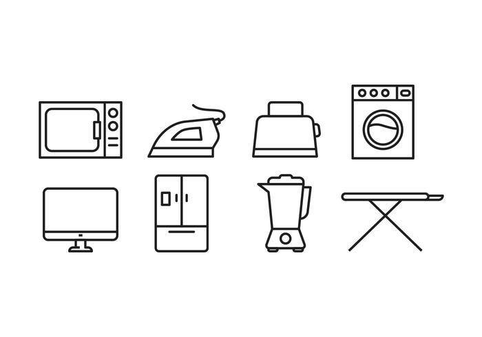 Haushaltsgeräte Icon Set vektor