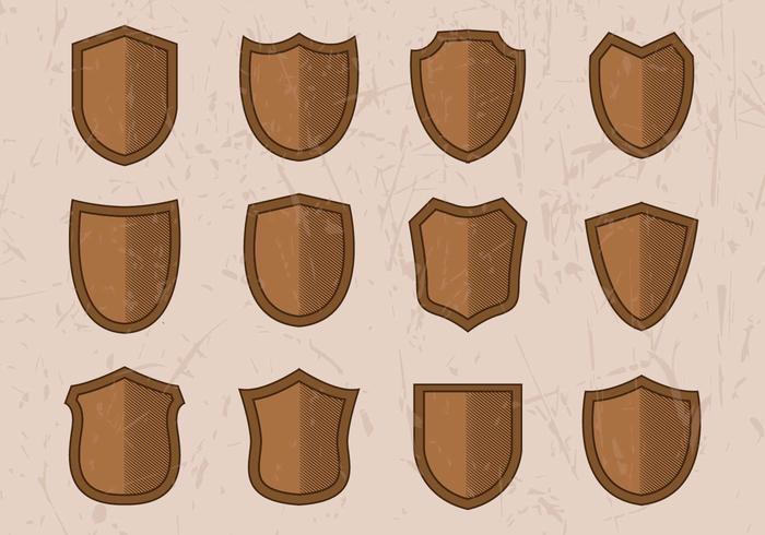 Free Vintage Shield Gravur Vektor