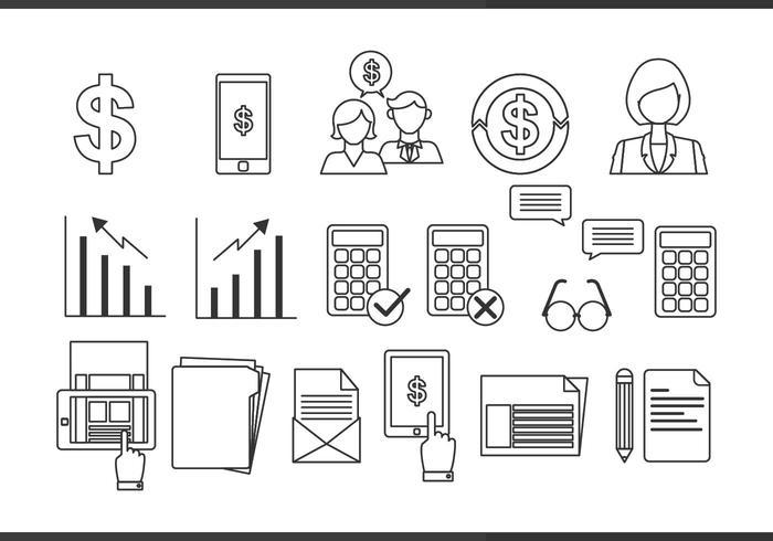 Buchhaltung Linie Icon Vektor