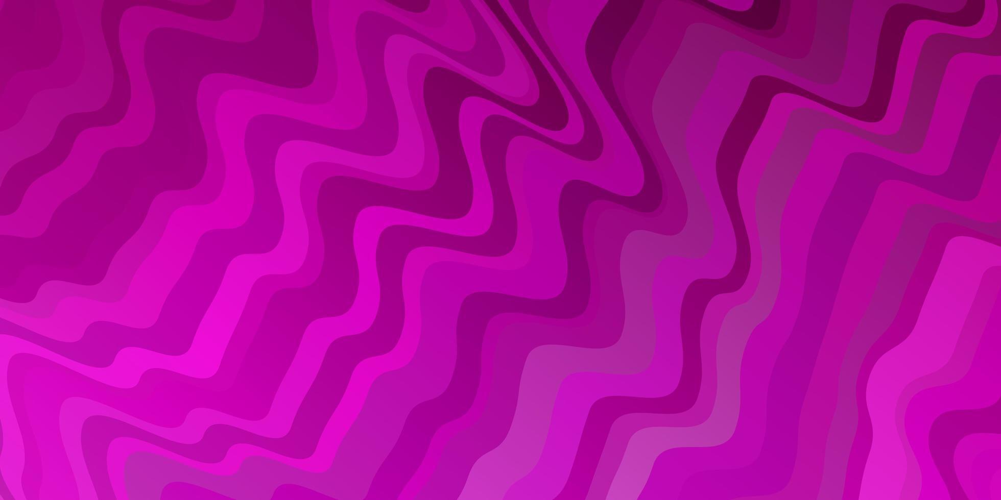 rosa Hintergrund mit gebogenen Linien. vektor