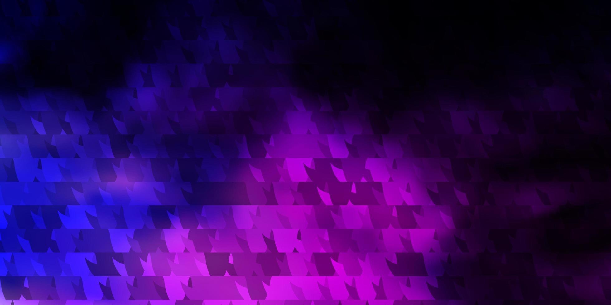 dunkelrosa, blauer Hintergrund mit Linien, Dreiecken. vektor