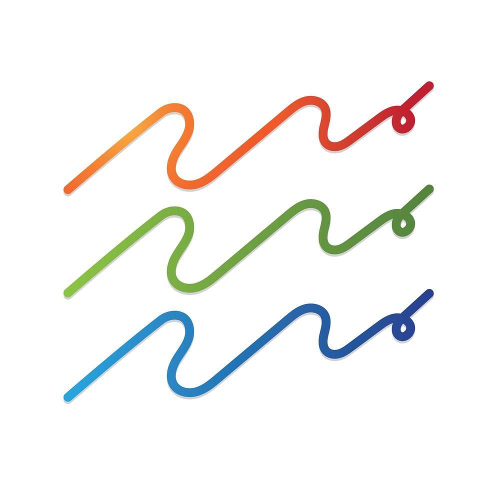 Wellen Symbole gesetzt vektor
